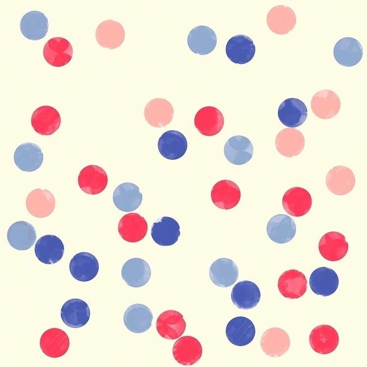 Watercolor Confetti. Polka dot  - steffenremter | ello