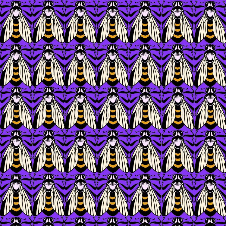 Ima Bee - surfacedesign, pattern - irene_rofail   ello