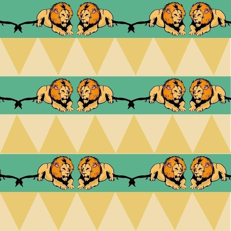Simba - pattern, patterndesign, illustration - irene_rofail | ello