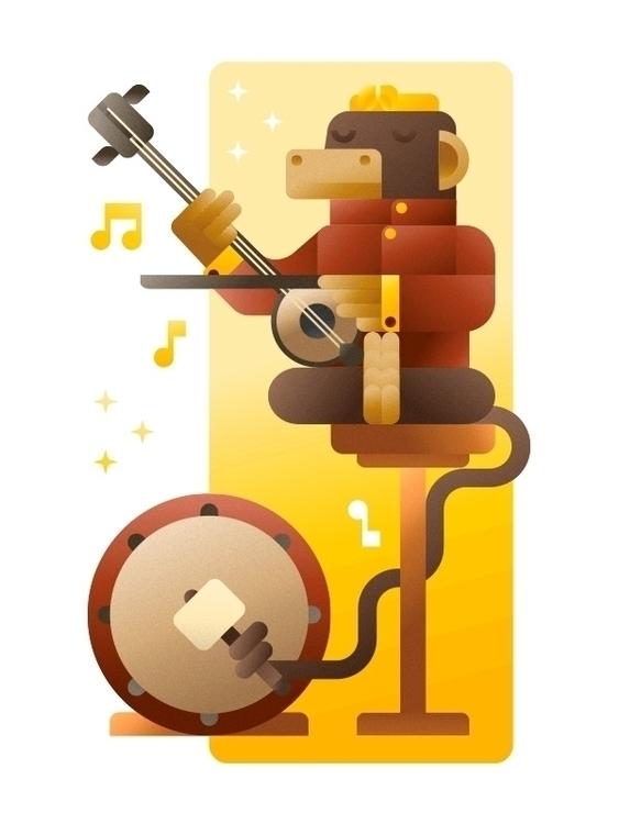 violinist drummer Beijing - monkey - francescofaggiano | ello