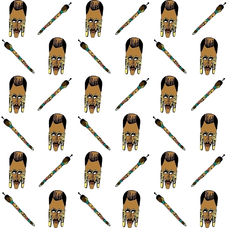 Masai boma - mask, patterndesign - irene_rofail | ello