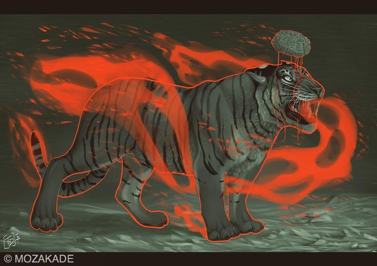 World Full Knowledge - tiger, brain - mozakade | ello