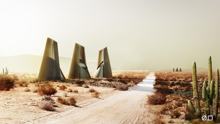 Life desert - #3dsmax, #vray, #photoshop - blankwall | ello