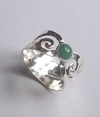 silver ring aventurine stone - silverring - wolfgangschweizer | ello