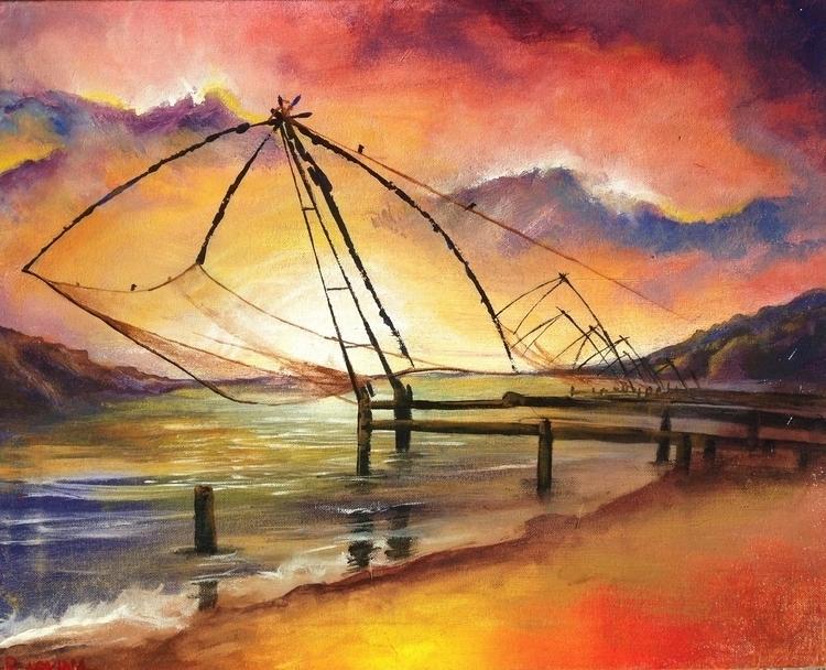 Kochi Chinese Fishing Nets Acry - simonraskina | ello
