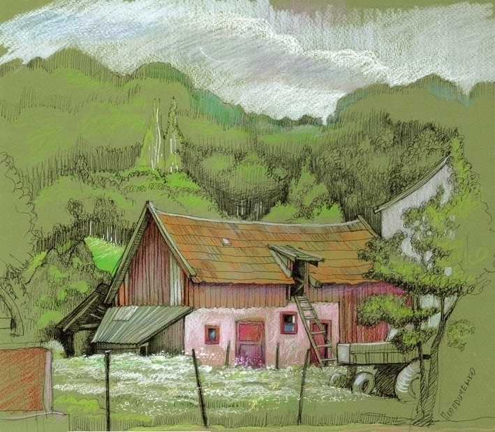 house - illustration, painting, drawing - popovichenko | ello