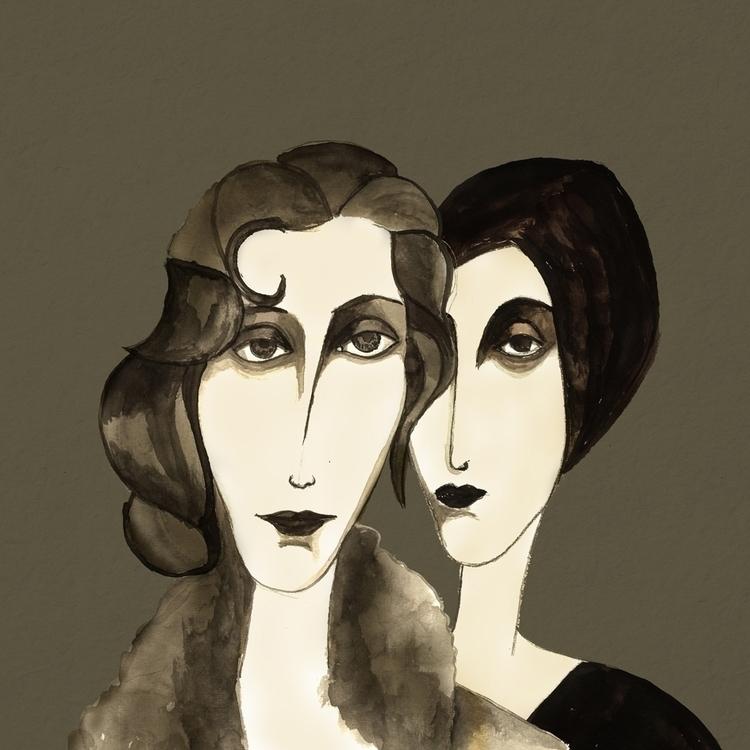 Collection ink portraits - digitalpainting - cardula | ello