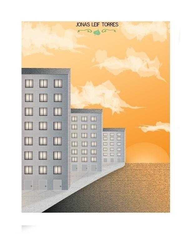City scape - graphicdesign, digitalart - torresj   ello
