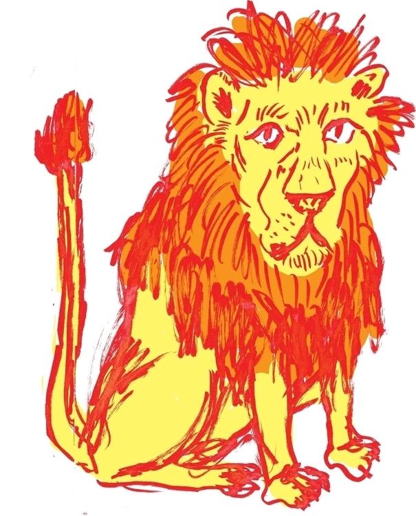 Lion, original illustration. Dr - sophieheywood | ello