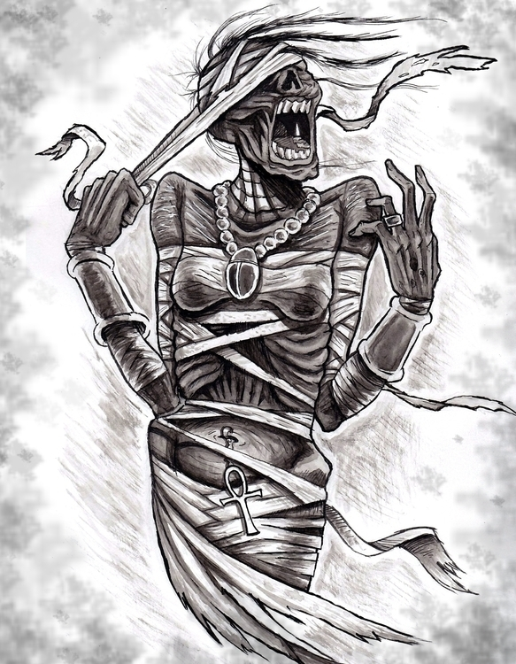 Mummy - illustration, themummy, universalmonsters - jimmyedwards | ello