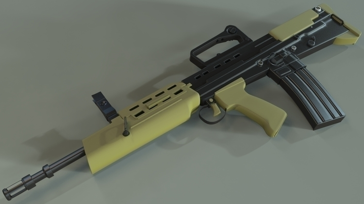 High Poly L85A2 - 3dasset, gameart - coop567 | ello