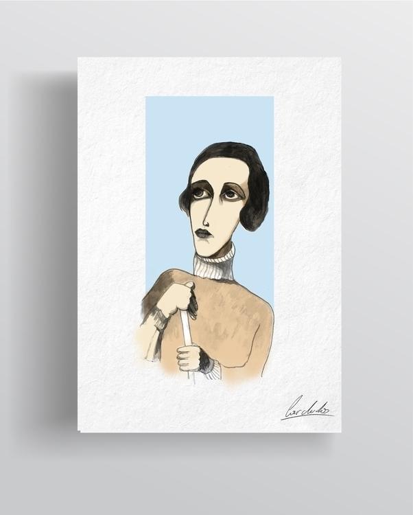 Ink portraits Tamamra de Lempic - cardula | ello