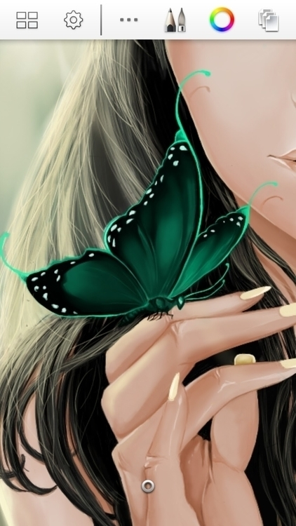 Butterfly - details - sketch, sketchbook - orjel | ello