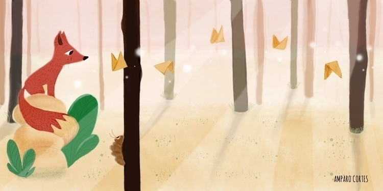 Magic Forest - drawing, illustration - amparocortes | ello