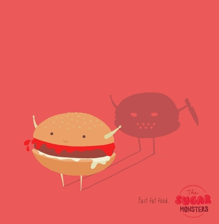 Fast Fat Food - illustration, food - peppermum | ello