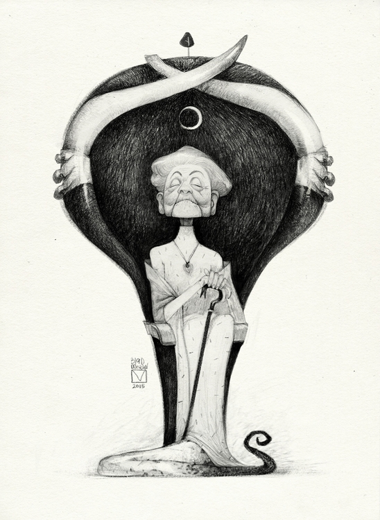 Sketchtober | 016 - illustration - blad_moran | ello