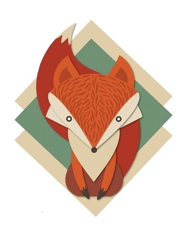 Retro Fox - fox, animals, animal - amparocortes | ello