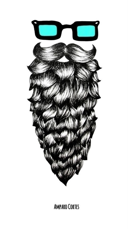 Casual Beard - illustration, pencil - amparocortes | ello