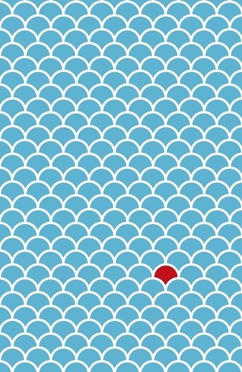 Blue white tiny red dot - simple - steffenremter | ello
