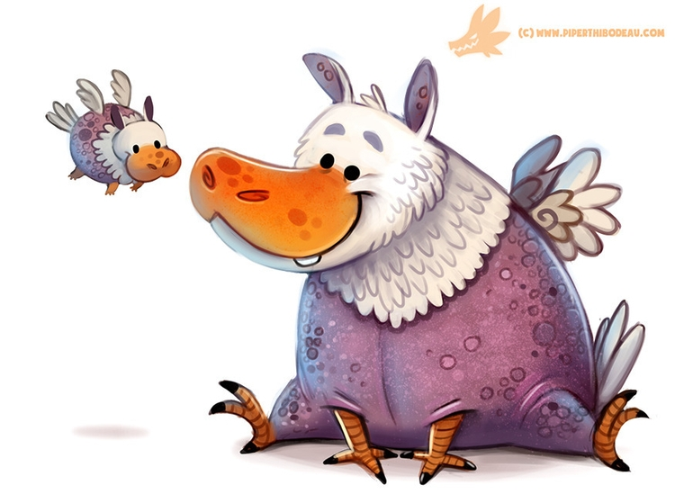 Daily Paint Hippogriff - 1165. - piperthibodeau | ello