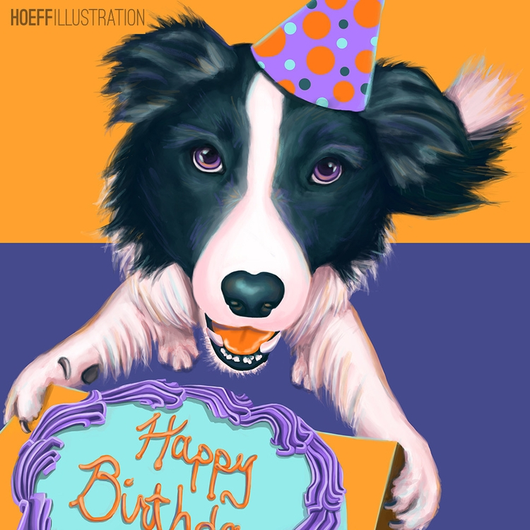 Happy Birthday Card - illustration - alexhoeffner-7715 | ello
