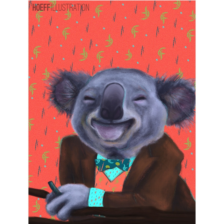 Baller Koala - illustration, characterdesign - alexhoeffner-7715 | ello