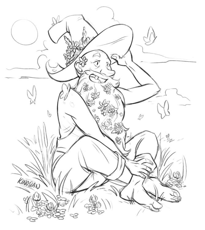 Happy hillbilly - sketch, sketches - jamiekinosian | ello