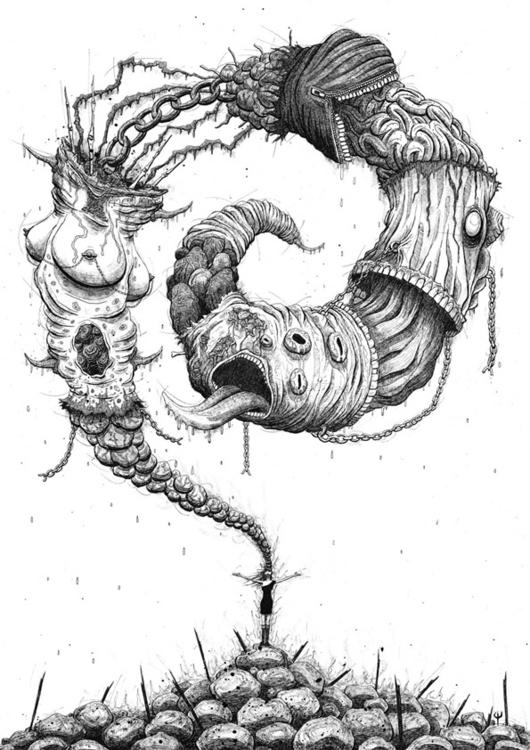 Personal illustration - handdrawn - siclark | ello