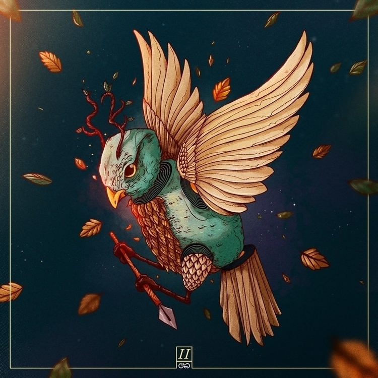 Onirico 2 - dream, bird, leaves - charringo | ello