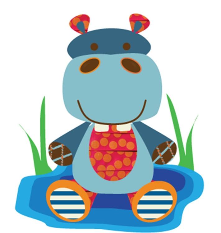 Hippo - Texture, Fun, Illustration - kvoerg | ello