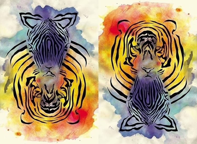 Predator prey - illustration, design - bananabits | ello