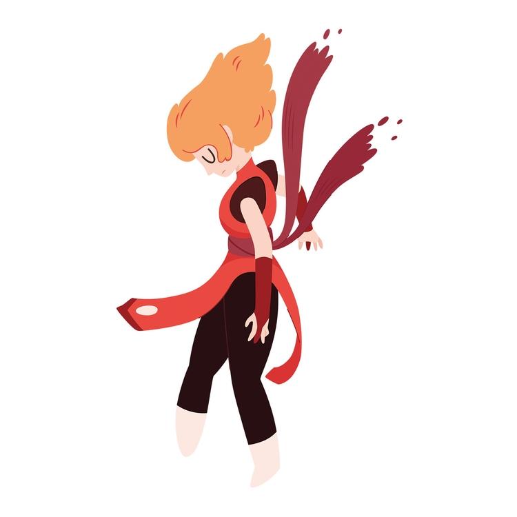 Falling - character, characterdesign - clairestamper | ello
