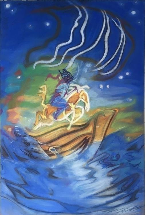 boat - illustration, drawing - gregcorrell | ello