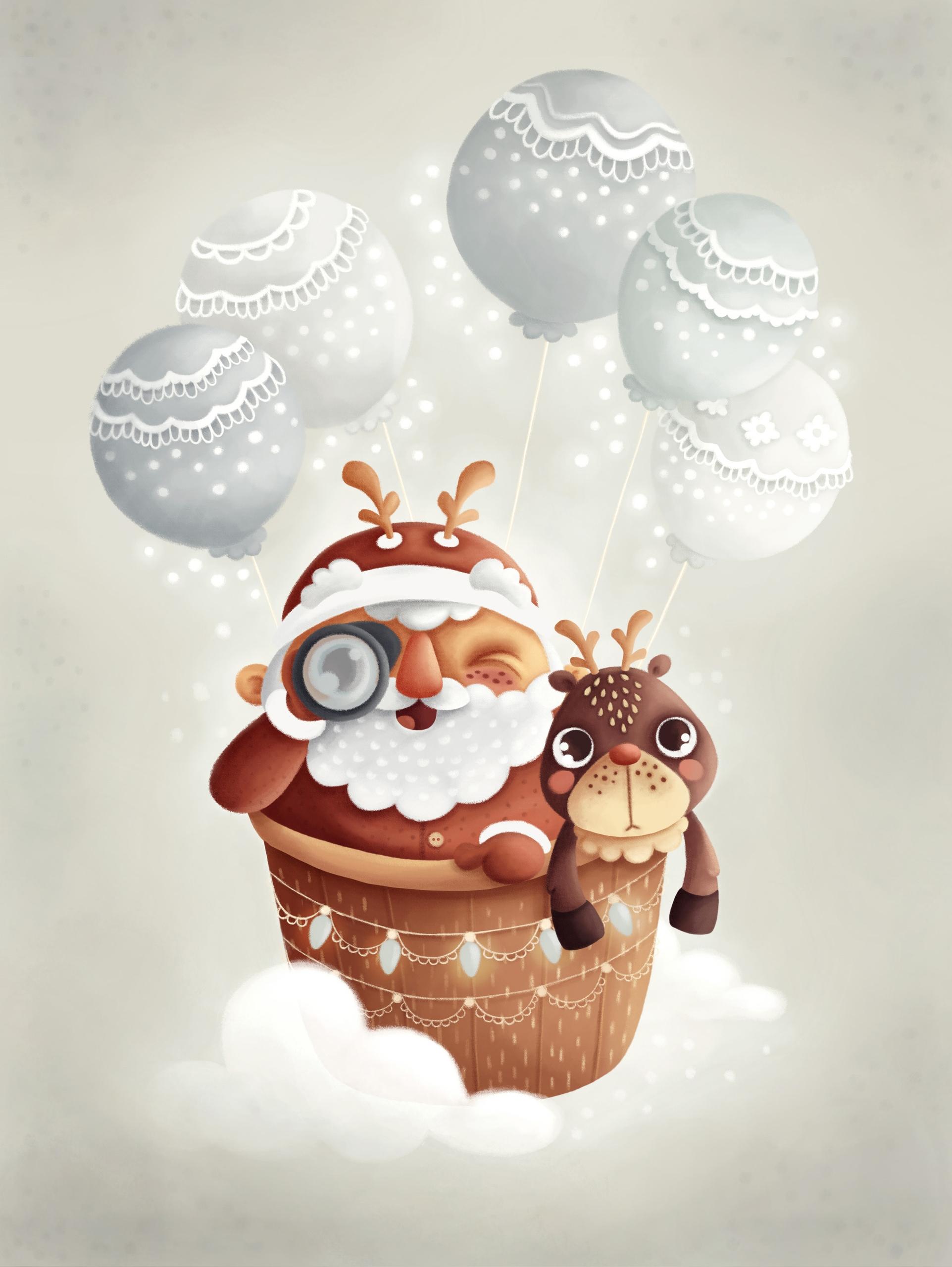 Christmas Balloon - balloon, santaclaus - tamara-2805 | ello