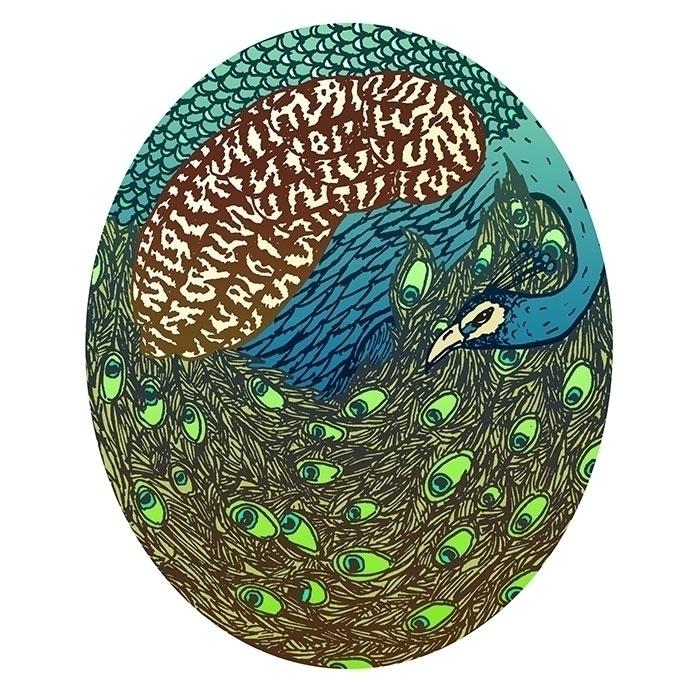 peacock - drawing, illustration - bananabits | ello
