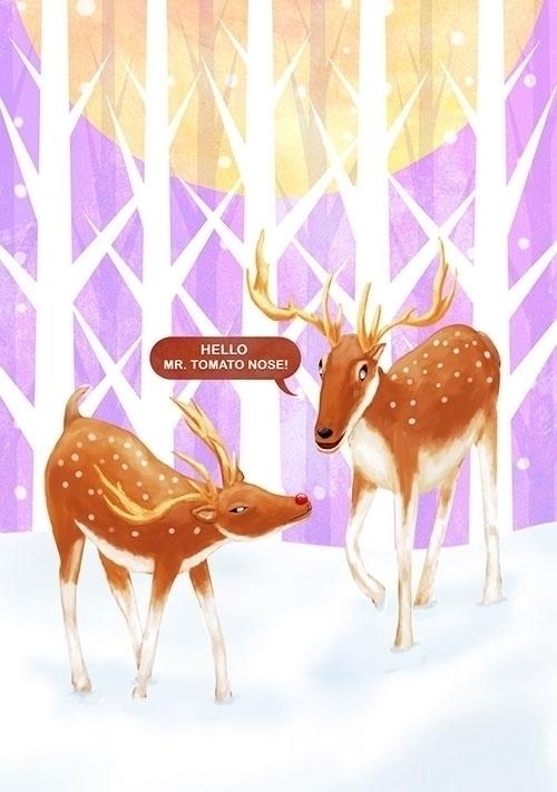Olops reindeer - conceptart, illustration - bananabits | ello