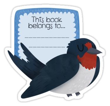 Barn Swallow Book Plate  - barnswallow - clairestamper | ello