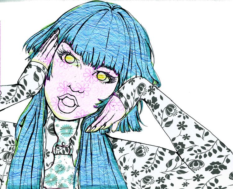 illustration, FEMM, fanart, fanart - nyaoko_ | ello