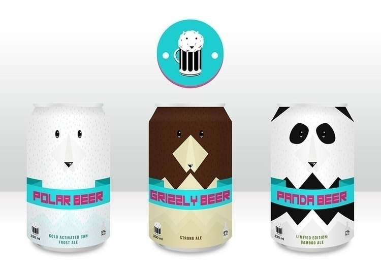 Beer Bear - illustration, design - bananabits | ello