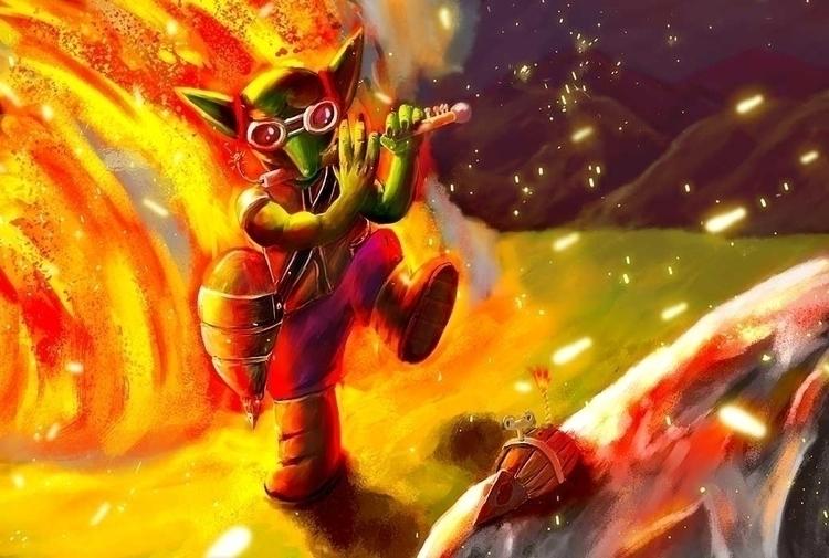 Goblin Explotion - illustration - bananabits | ello