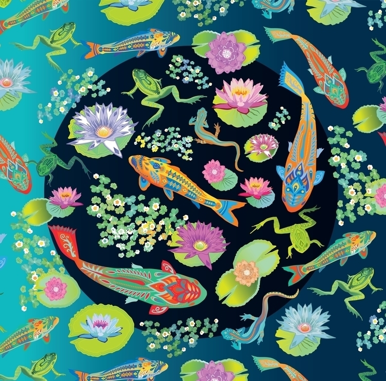 secret Pond - animals, nature, pond - polkip | ello