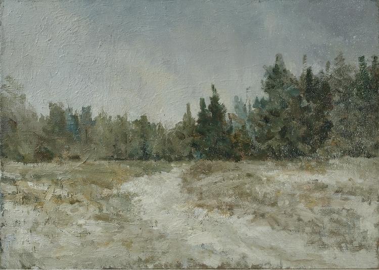 Winter Road (55h65) canvas / oi - antonbogatov | ello