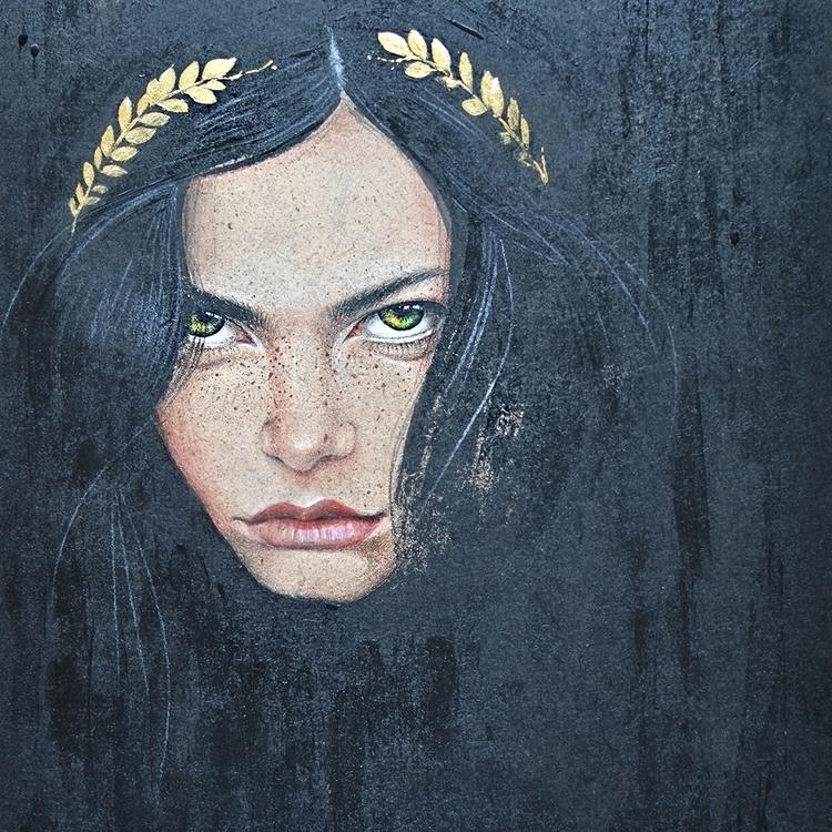 Wild - wild, girl, acrylic, acrylicpaint - malenka-9713 | ello
