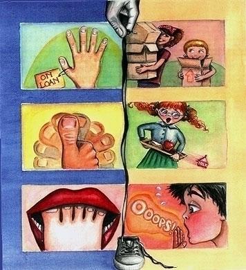 Hands Feet - supersillysayings, idioms - catsnodgrass | ello