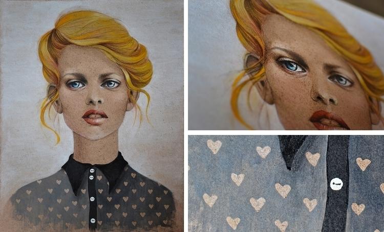 girl golden hair - gold, beauty - malenka-9713 | ello