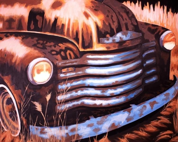 Truck - illustration, painting, jessecolton - jl_colton | ello