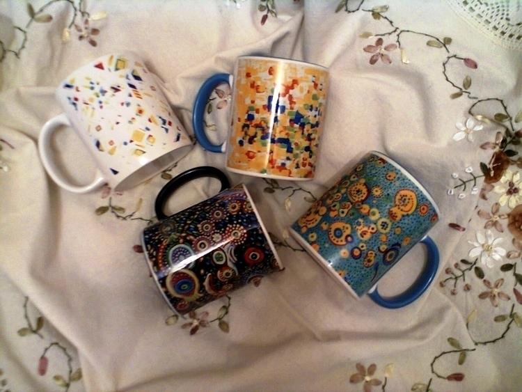 Printing. Cups. nice drawn embo - olgapetrenko | ello