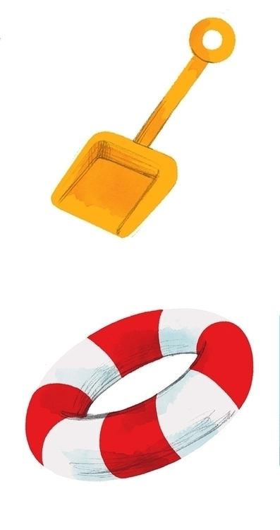 beach, sand, shovel, float - cmouta | ello