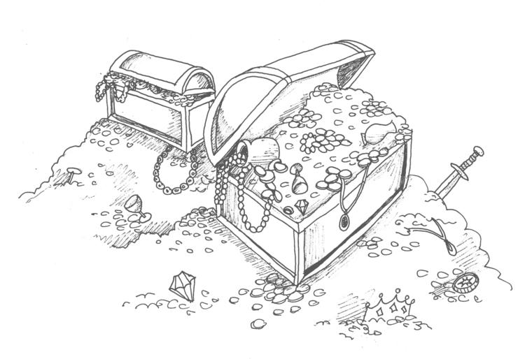 illustration, treasure, drawing - elf-1123 | ello