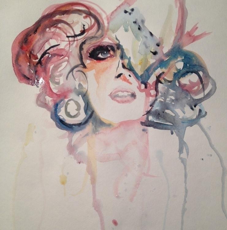 Cake Girl - watercolor - jayelinparker | ello